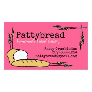 Padaria feita sob encomenda do trigo de pão cartão de visita