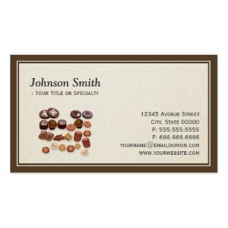 Padeiro doce dos chocolates da padaria - elegante  modelo cartoes de visita