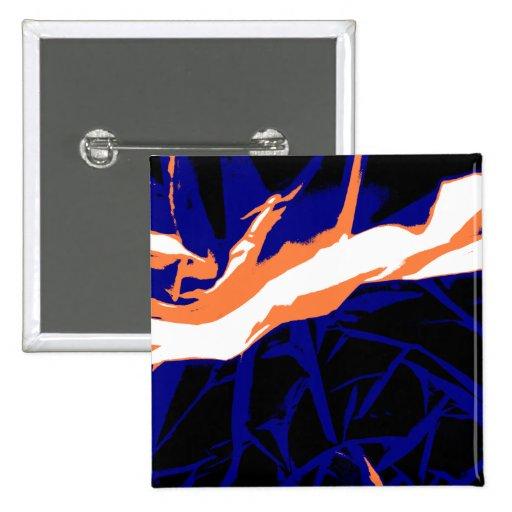Padrão abstrato azul e laranja boton