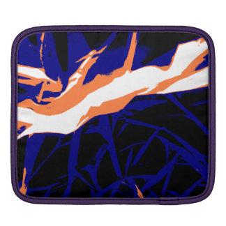 Padrão abstrato azul e laranja bolsa de iPad
