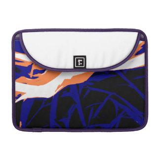 Padrão abstrato azul e laranja bolsas para MacBook