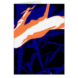 Padrão abstrato azul e laranja cartoes