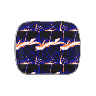 Padrão abstrato azul e laranja latinhas de menta