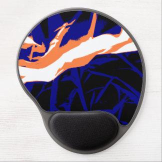 Padrão abstrato azul e laranja mousepad de gel