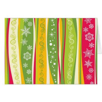 padrão de natal cartão comemorativo