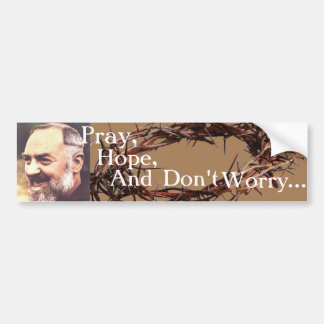 Padre Pio Bumpersticker Adesivo Para Carro