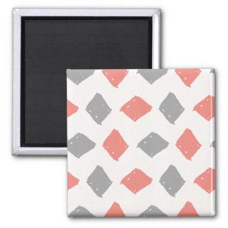 Padrões abstratos ilustrados bonitos ímã quadrado