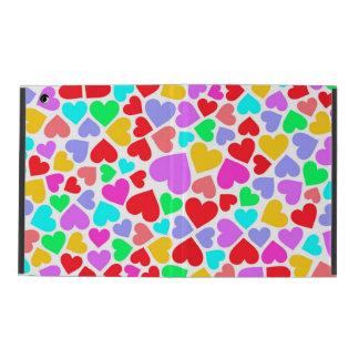Padrões coloridos bonitos dos corações capa iPad