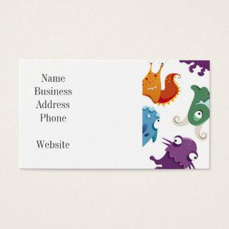 Padrões coloridos do divertimento louco dos cartão de visita