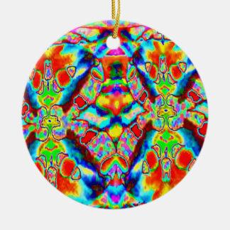 Padrões mágicos orientais - aprecie e compartilhe ornamento de cerâmica redondo