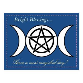 Pagan ou cartão de Wiccan