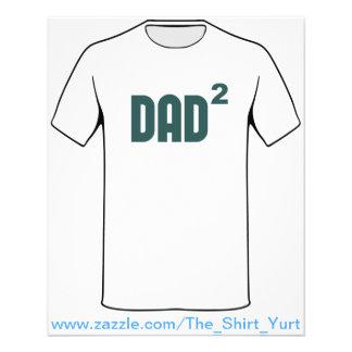 Pai Dad2 esquadrado exponencial Flyer 11.43 X 14.22cm