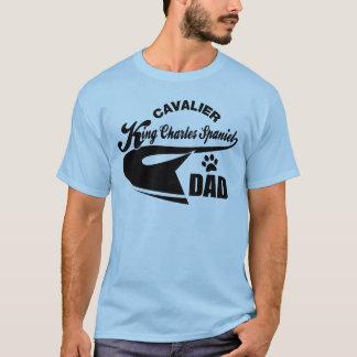 Pai descuidado do Spaniel de rei Charles T-shirt