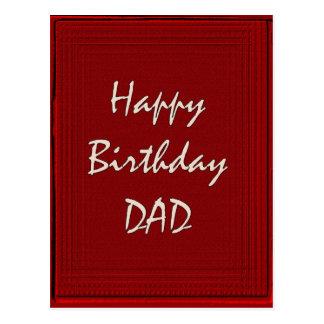 Pai do feliz aniversario cartoes postais