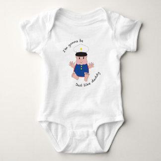 Pai do soldado - dressy body para bebê