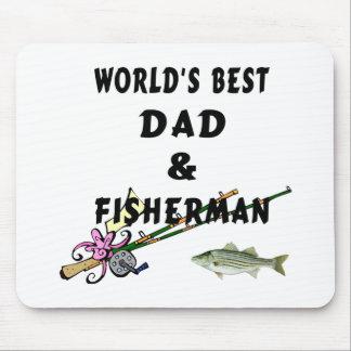 Pai e pescador mouse pad