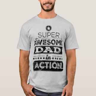 Pai impressionante super na ação (estilo do camiseta