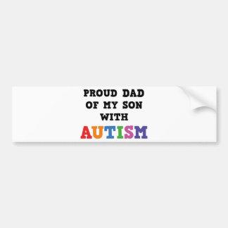 Pai orgulhoso de meu filho com autismo adesivo para carro
