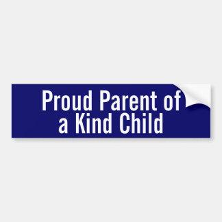 Pai orgulhoso de uma criança amável adesivo para carro