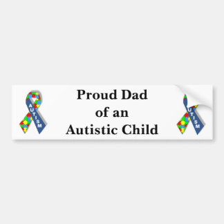 """""""Pai orgulhoso de uma criança autística """" Adesivo Para Carro"""