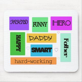 Pai pai feliz engraçado mousepad
