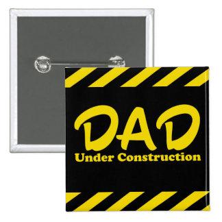 Pai sob a construção bóton quadrado 5.08cm