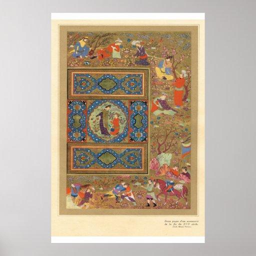 Painel decorativo da arte asiática clássica posters