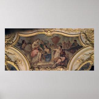 Painel decorativo do salão de beleza oval poster