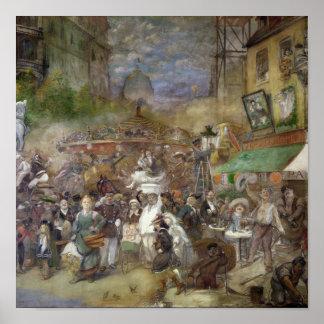 Painel decorativo que descreve Paris Poster