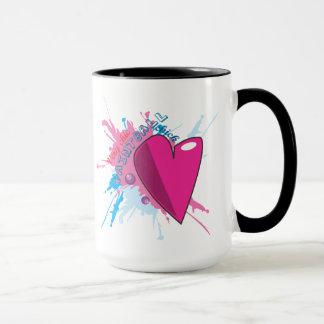 Paintball chique com caneca do coração