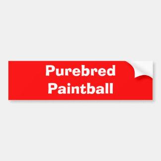Paintball do puro-sangue adesivo para carro