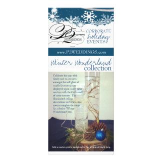 País das maravilhas do inverno dos casamentos P2 q 10.16 X 22.86cm Panfleto
