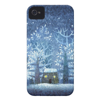 País das maravilhas feminino do inverno do vintage capa para iPhone 4 Case-Mate