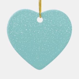 País das maravilhas morno nevado do inverno da ornamento de cerâmica coração