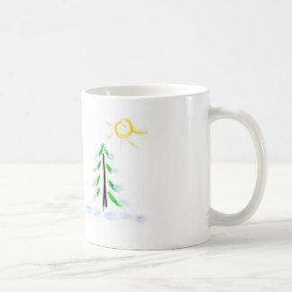 país do inverno caneca de café