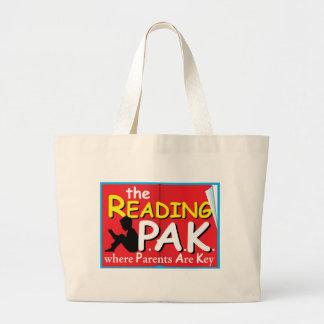 Pais e professores que lêem o saco bolsas para compras