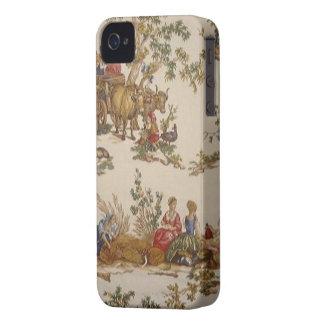 País francês Toile Blackberry do vintage corajoso iPhone 4 Capa