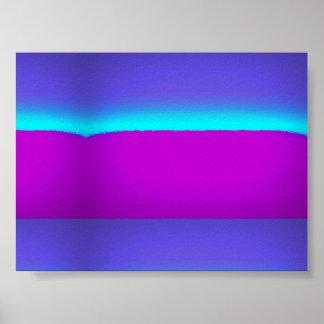 Paisagem abstrata de PaperMatte do poster do valor