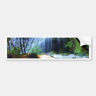 Paisagem bonita da selva da cachoeira adesivo para carro