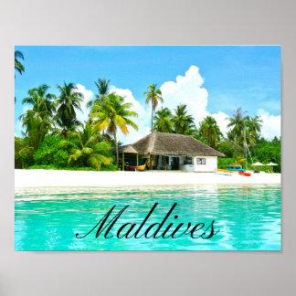 Paisagem bonita de Maldives Poster