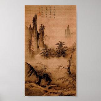 Paisagem chinesa - mães Yuan Pôster