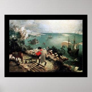 Paisagem com a queda de Ícaro - 1558 Poster