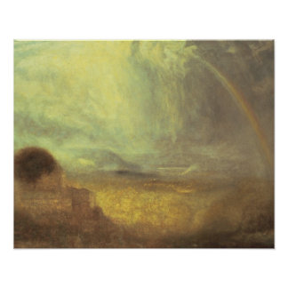 Paisagem com um arco-íris pôster
