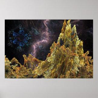 Paisagem cósmica do Fractal Poster