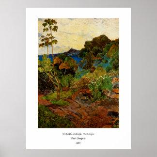 Paisagem da Martinica de Paul Gauguin (1887) Poster