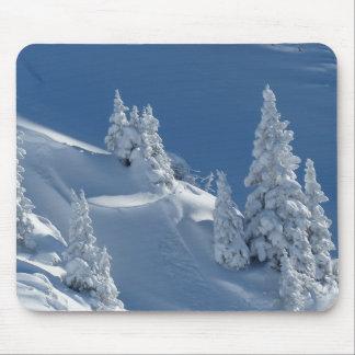 Paisagem da neve mouse pad