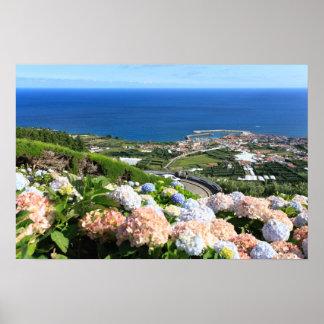 Paisagem de Açores Pôsteres