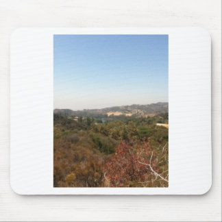 paisagem de hollywood mousepad