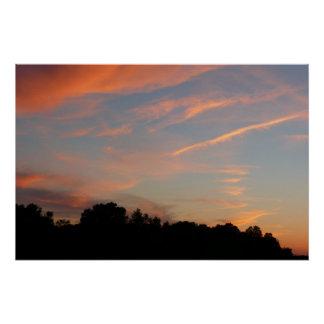 Paisagem de Maryland do por do sol de Elkridge Póster