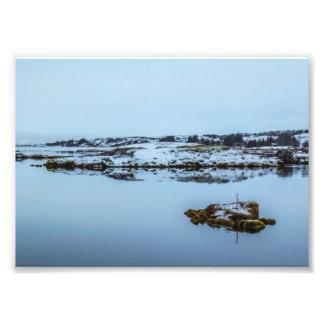 Paisagem de Silfra em Islândia Fotos